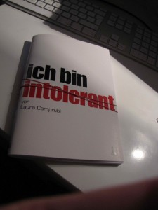 Musterbuch ich bin intolerant