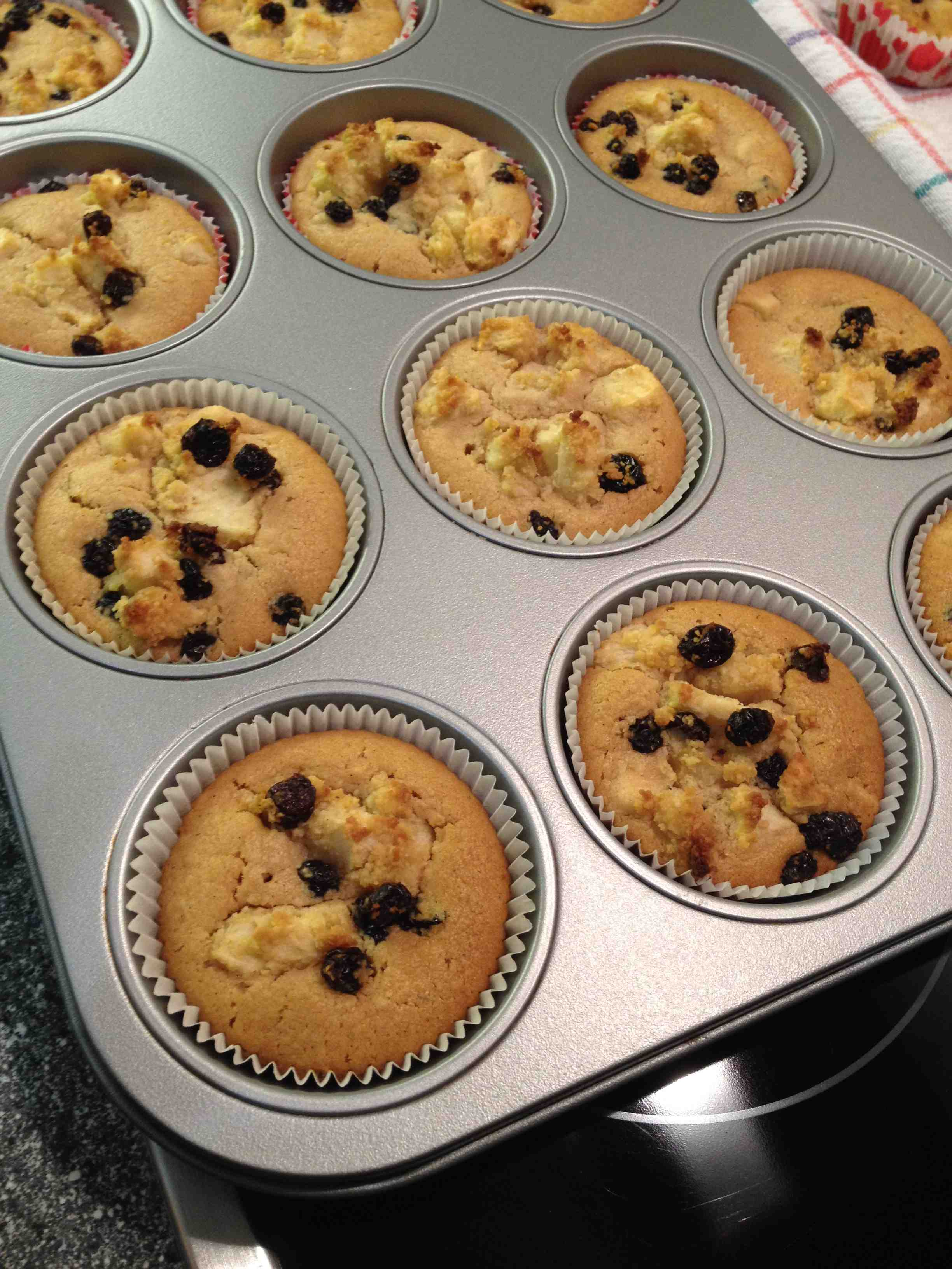 Bratapfel muffins rezept
