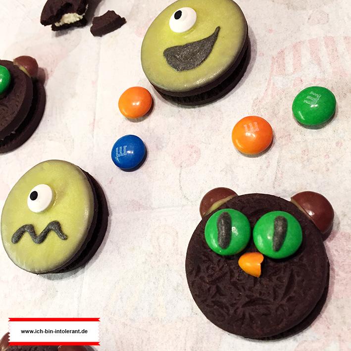 Glutenfreie Cookies Halloween Katzen